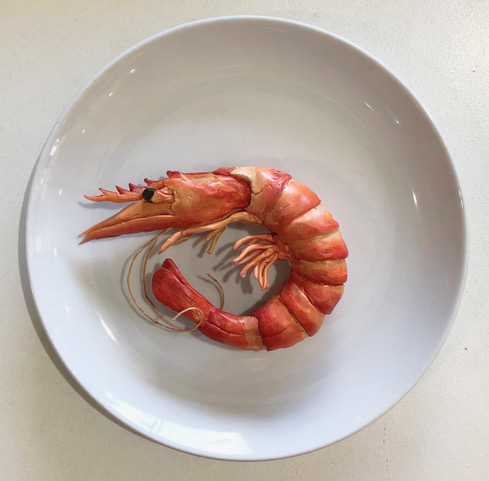 Balline Prawn - Sculpey by Michelle Dawson